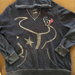 Women's Texans distressed hoodie  xxl by Majestic